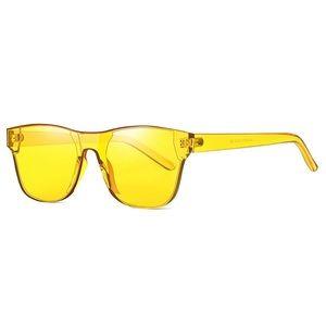 Rimless Wayfarer Sunglasses Retro Yellow Classic